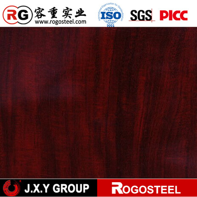 Wooden design printed galvanized steel sheet in coils for decoration