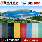 zinc coated colorful roofing steel corrugated sheet