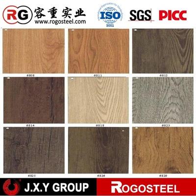 china factory direct sale Wooden Pattern Prepainted Iron Sheet for Door